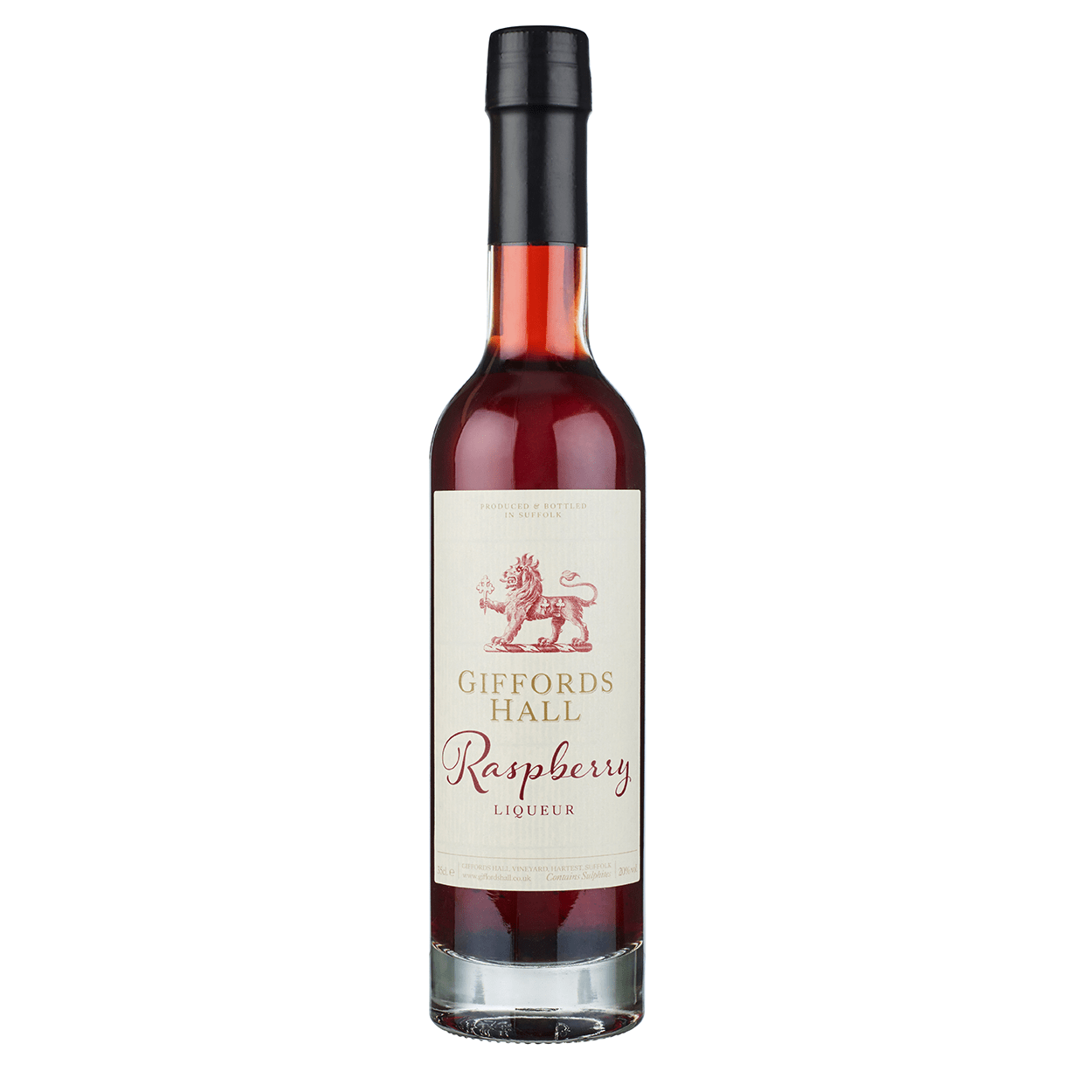 Giffords Hall Raspberry Liqueur NV bottle shot