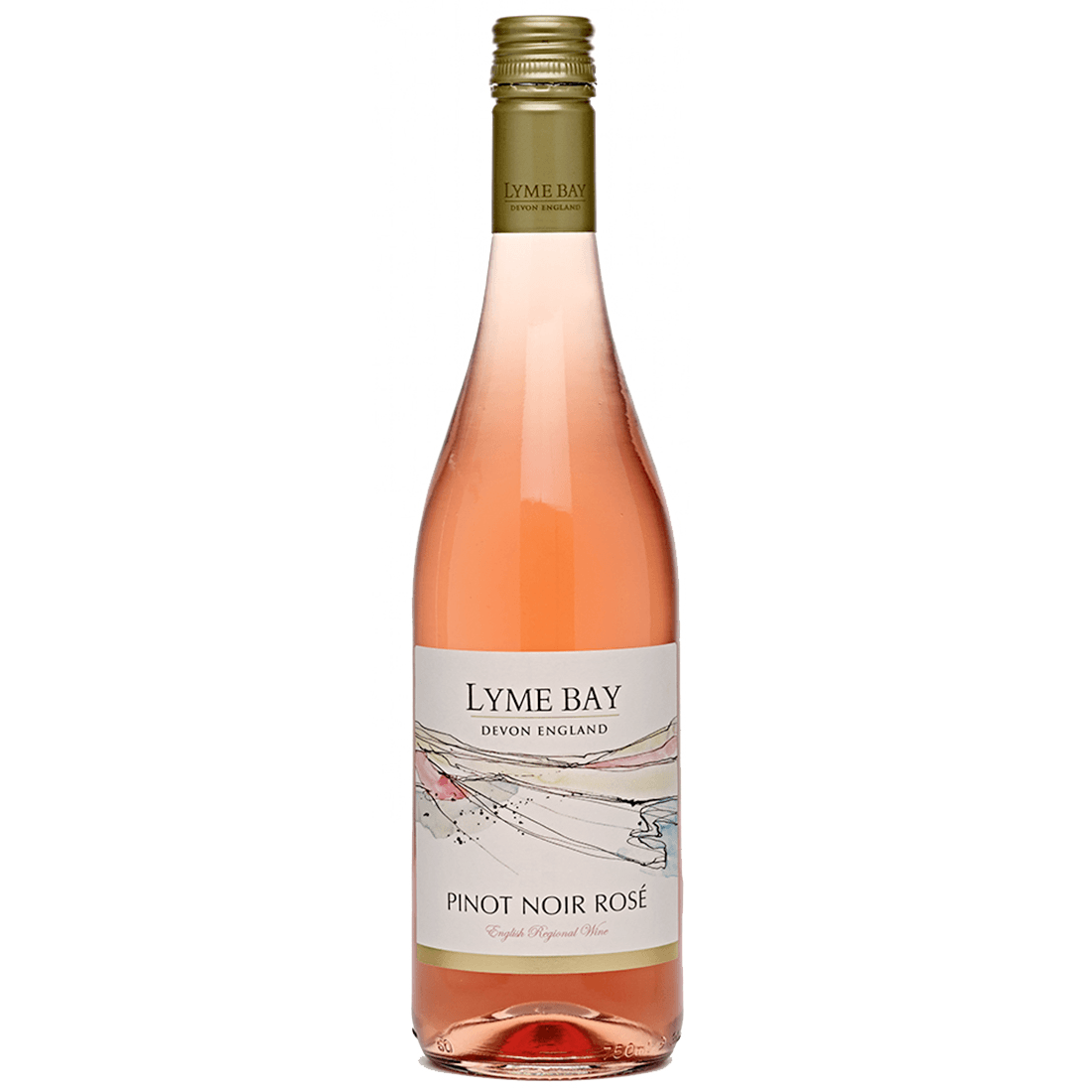 Lyme Bay Pinot Noir Rosé 2017 bottle shot