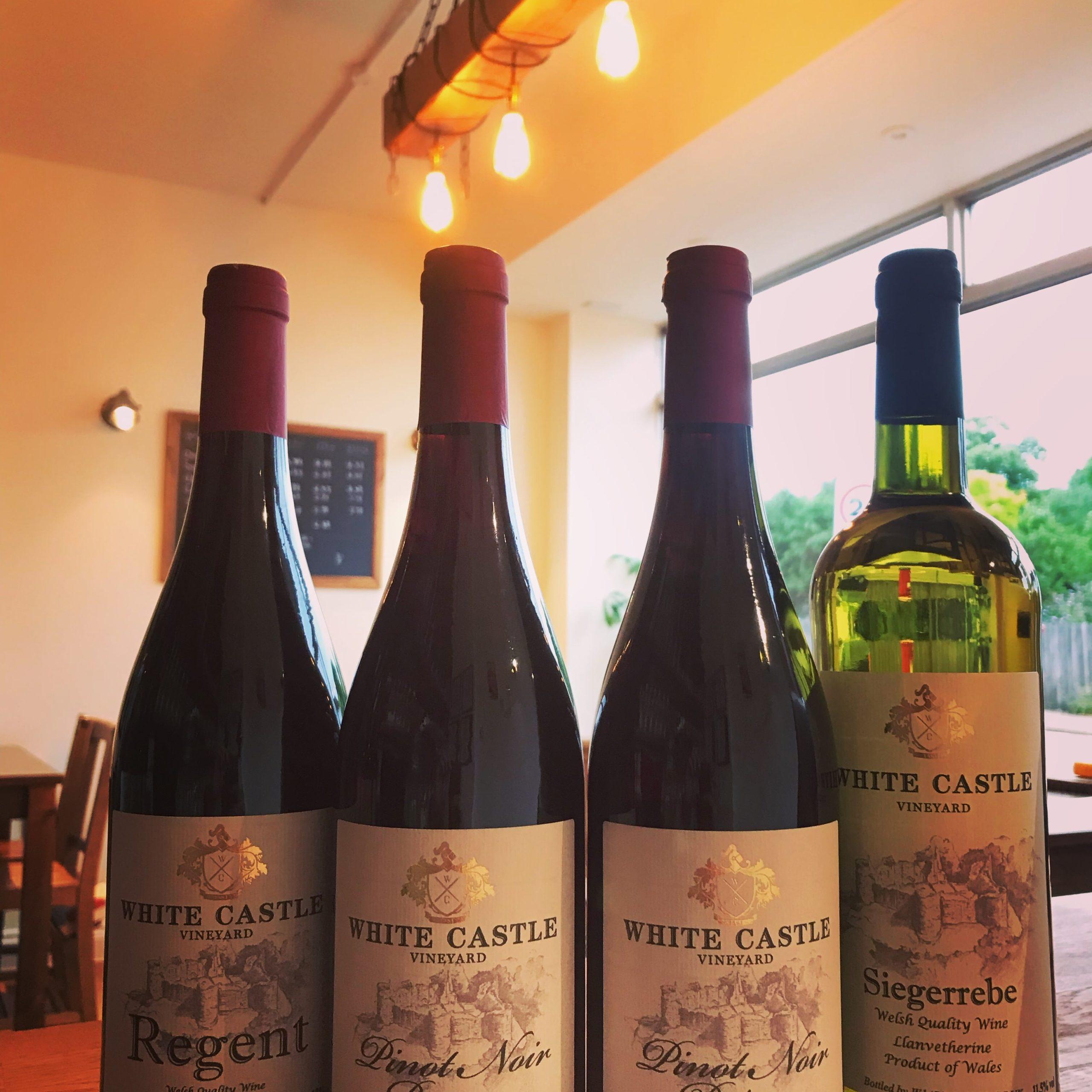 White Castle Vineyard wines shot