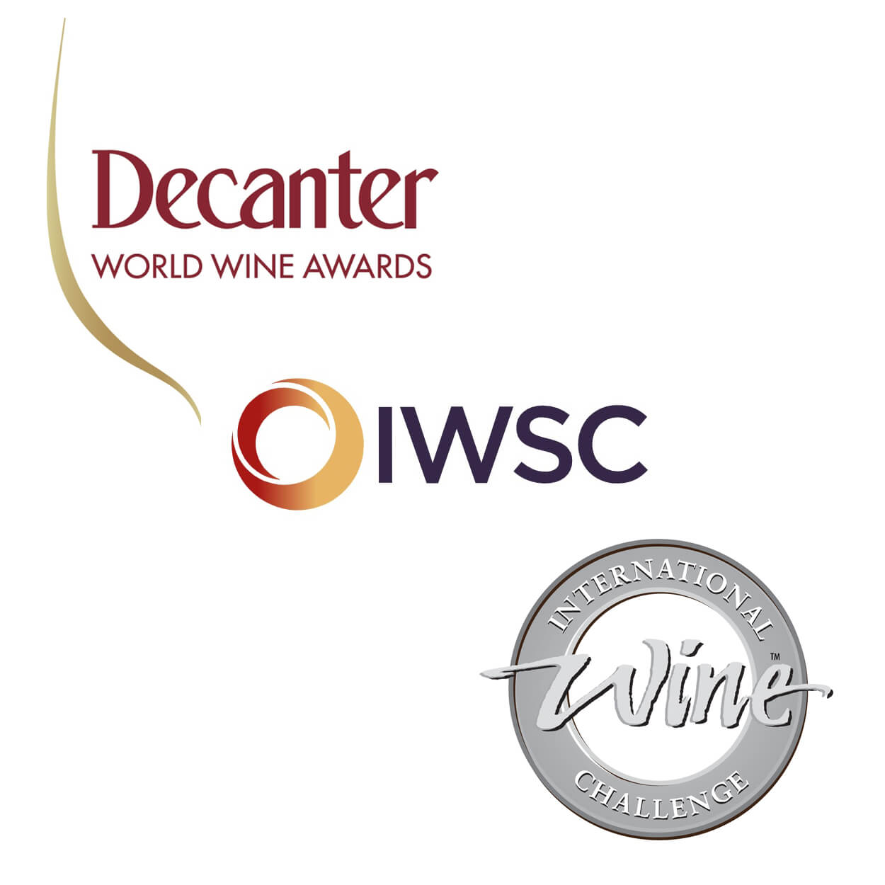 Decanter IWC IWSC logos English wine awards