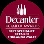 Decanter Retailer Awards - Best Specialist Retailer England & Wales