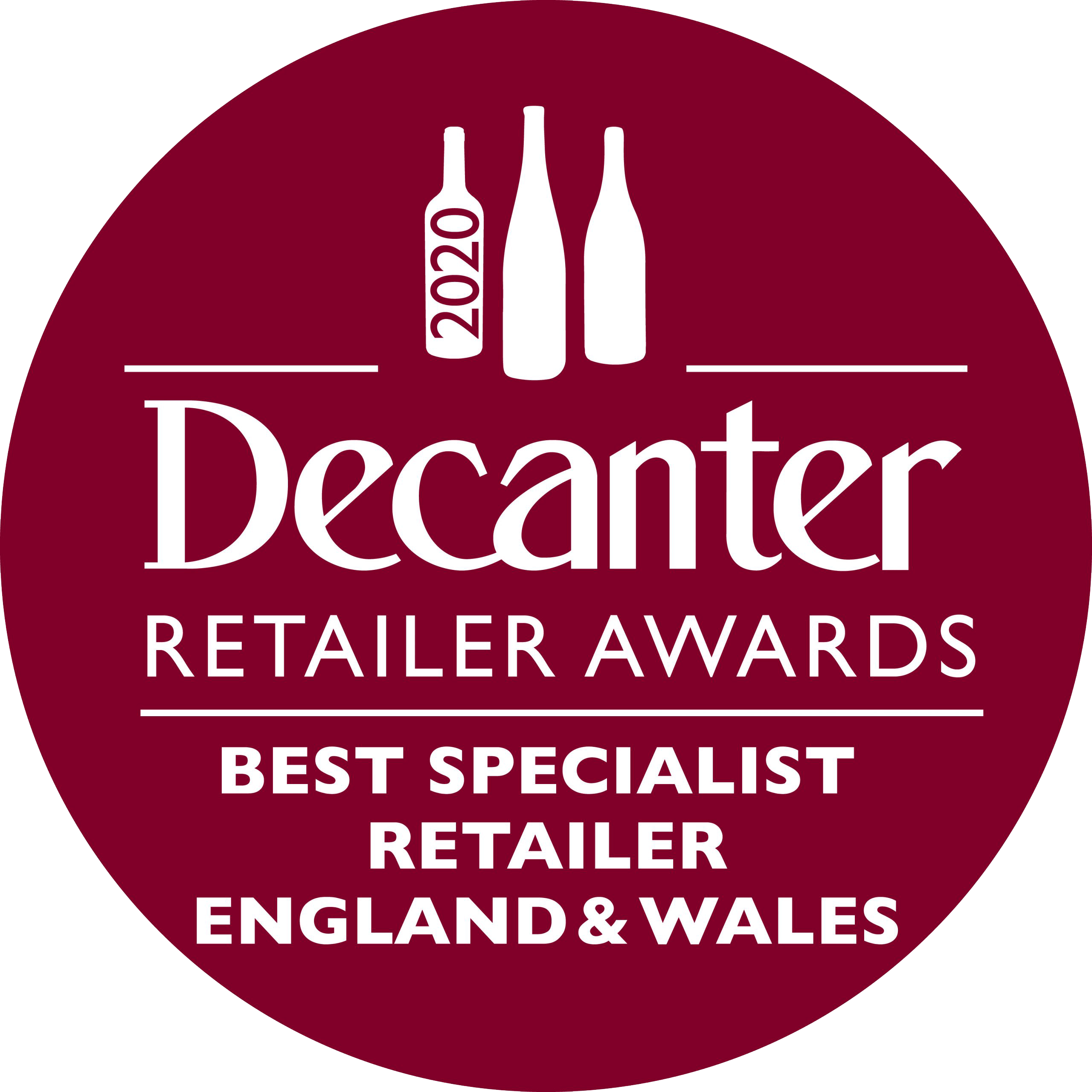 Decanter Retailer Awards Best English & Welsh wine specialists award logo