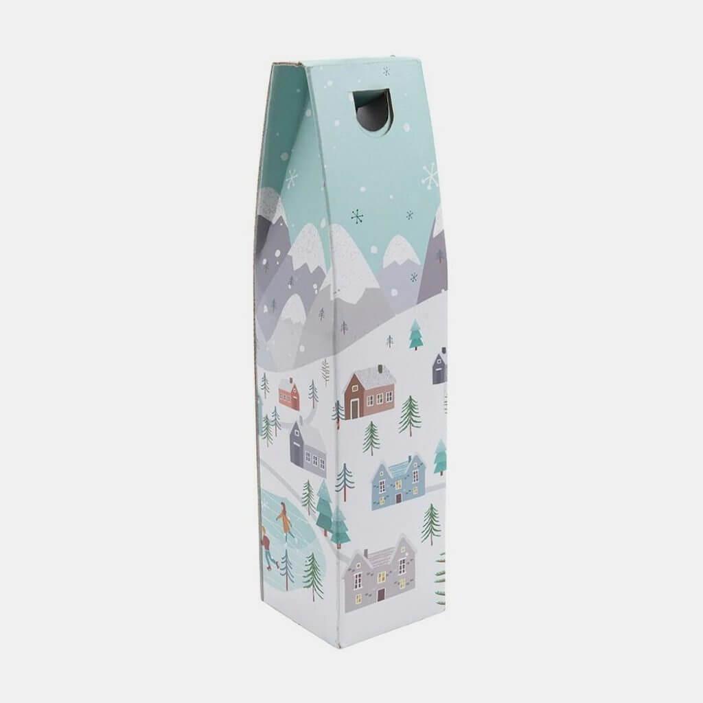 1 bottle snowy scene gift box