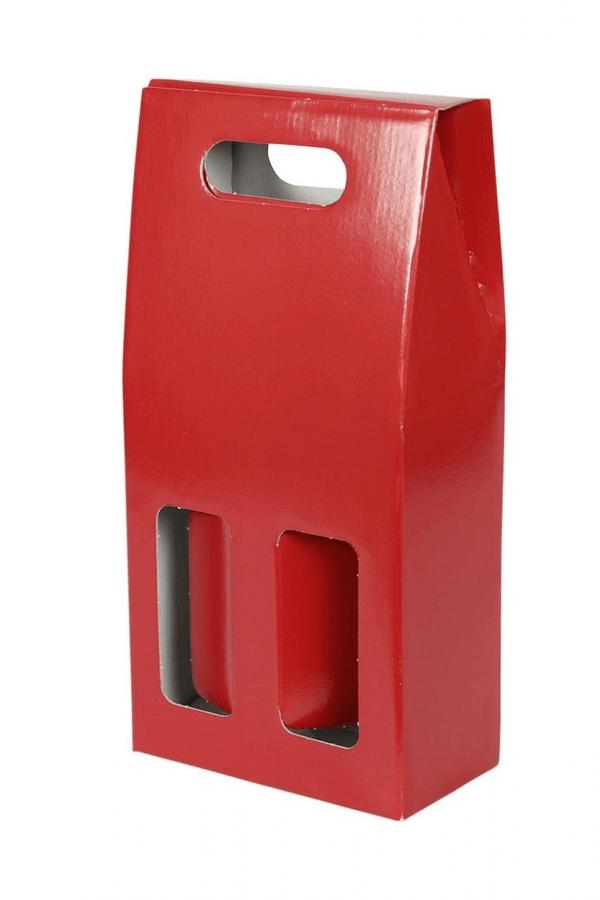2 bottle red gift box