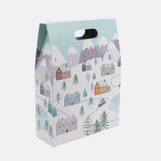 3 bottle snowy scene gift box