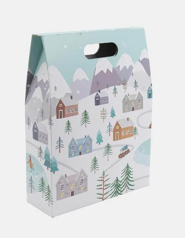 3 bottle snowy scene gift box
