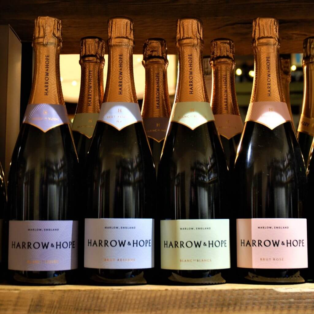 Harrow & Hope case English Sparkling Wine