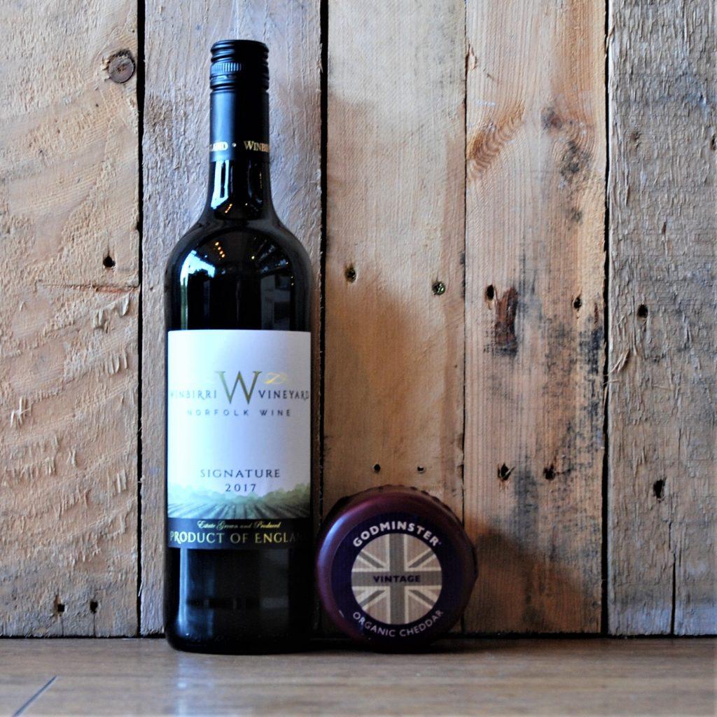 English REd Wine from WInbirri and Cheddar